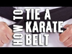 karate belt tying