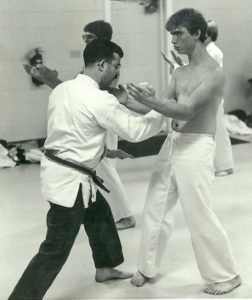Mark Roscoe with Sensei Carria