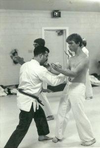 Mark being tested by his then Sensei, John Carria in Fredericksburg, VA 1983