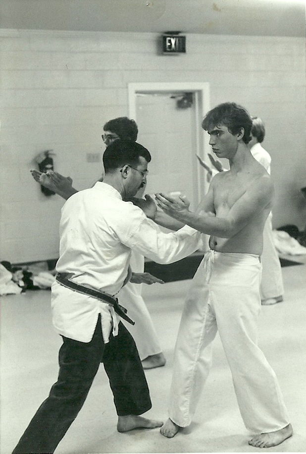 Mark being tested by his then Sensei, John Carria in Fredericksburg, VA 1983
