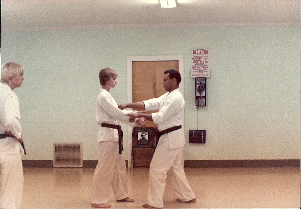 Sensei Mark Roscoe learning from Master James Thompson 1983