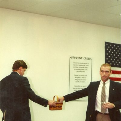 Sensei Mark Roscoe at Grand Opening of His First Dojo in Fredericksburg 1993
