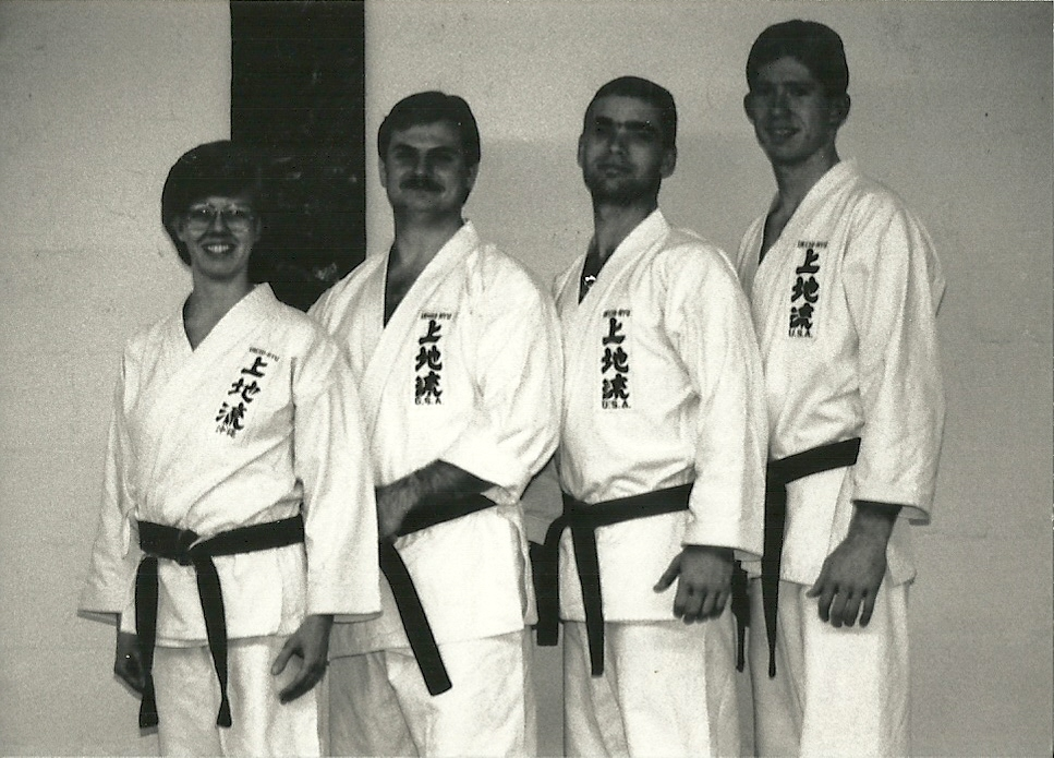 Sensei Mark Roscoe with fellow Black Belts in Alexandria Va  1992