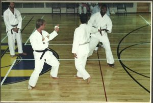 Sensei Mark Roscoe Sparring in Black Belt Competition