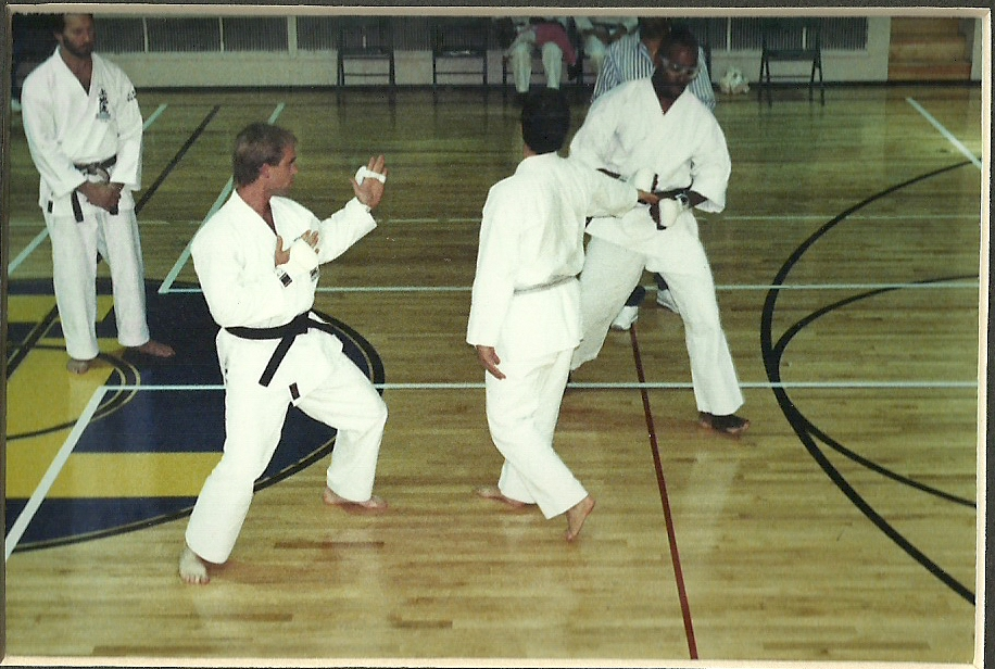 Sensei Mark Roscoe Sparring in Black Belt Competition 1992